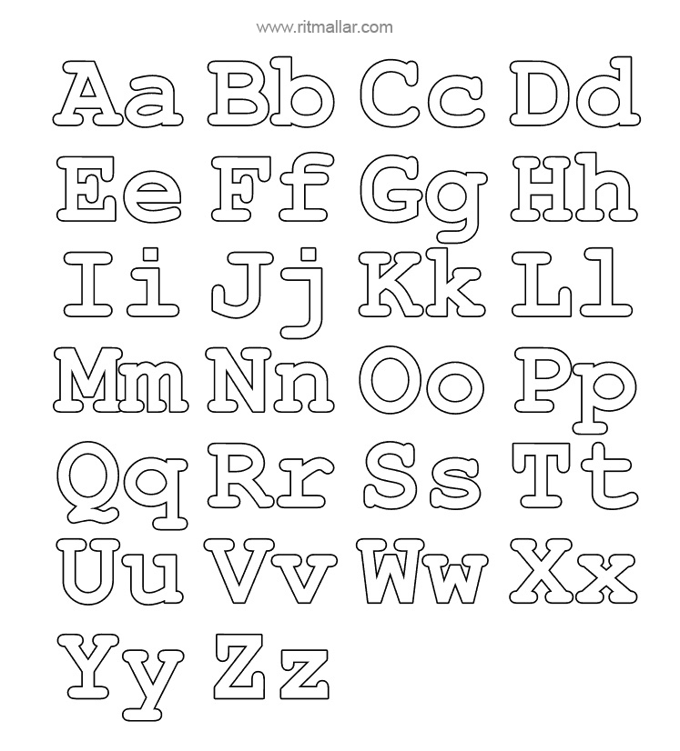 alphabet  Inch Block Letters Template on print cut out free,