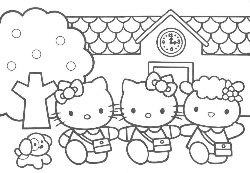 målarbilder hello kitty