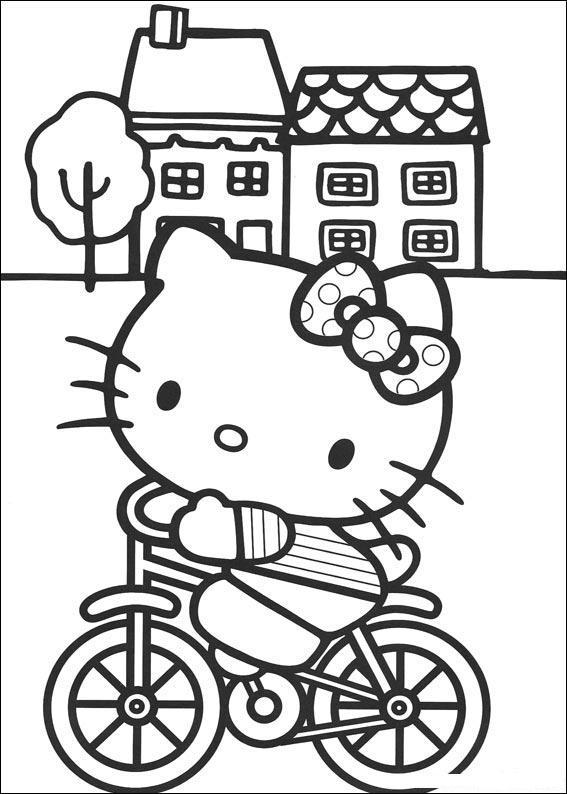 hello kitty målarbild